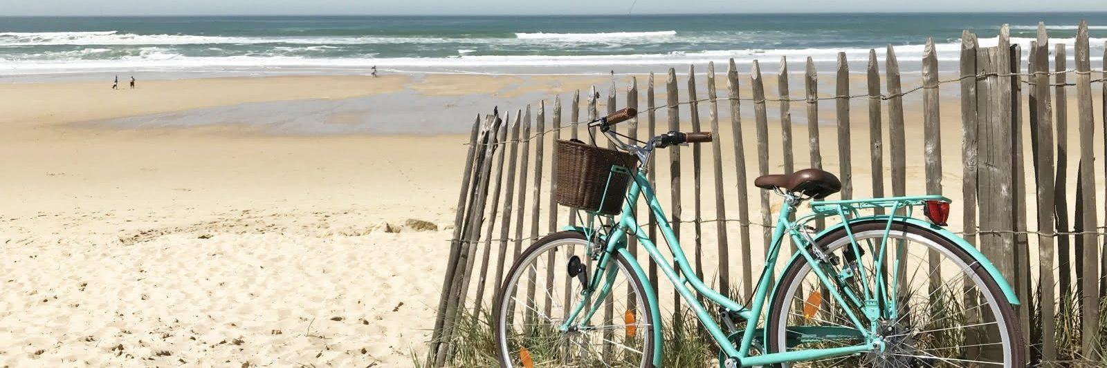 Balades à vélo sur la plage