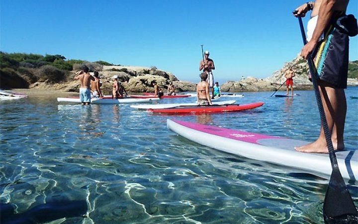 Initiation au paddle à Six-Fours